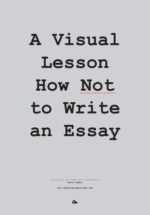 Poster for A Visual Lesson How Not to Write an Essay (2014)